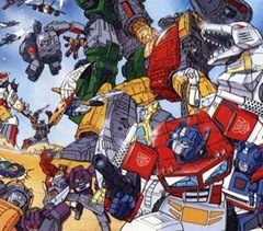 Autobots and Decepticons fight