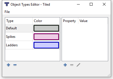 Adding Object Types in Tiled
